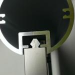 Alufor-Aufsteller - U-Profil von oben ohne Abdeckkappe