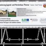 Freistehender Alu-Bannerrahmen für Bautafeln