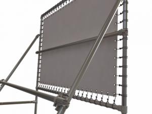 Freistehender Alu-Bannerrahmen für Bautafeln - Detail 1