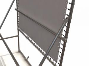 Freistehender Alu-Bannerrahmen für Bautafeln - Detail 2