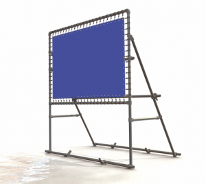 Freistehender Alu-Bannerrahmen für Bautafeln - Detail 3