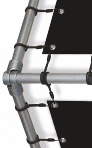 Mobile Bandenwerbung Alu-Rohr Detail 1