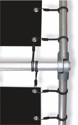 Mobile Bandenwerbung Alu-Rohr Detail 2