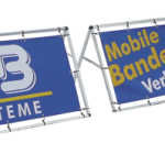 Mobile Bandenwerbung Bannerrahmen-Stecksystem (Alu-4-Kant-Rohr)