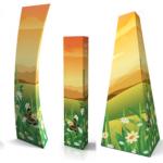 Werbesäulen aus Wellpappe - weitere Formen Werbesäulen