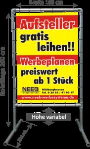"""Bannerrahmen Aufsteller """"Hoch"""" - Typ 1"""