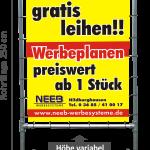 """Bannerrahmen Aufsteller """"Hoch"""" - Typ 2"""