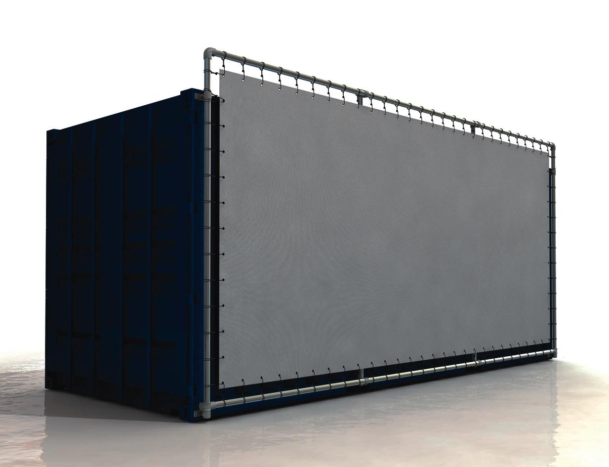Containerrahmen 20 Fuss Container Bannerrahmen Stecksystem unten