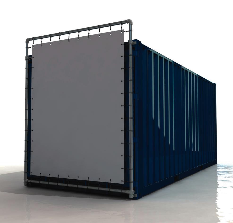Containerrahmen 20 Fuss Container Bannerrahmen Stecksystem unten kurze Seite