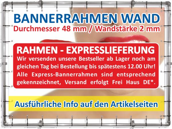Bannerrahmen-Expresslieferung