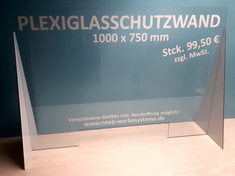 Plexiglasschutzwand Spuckscheibe