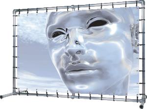 Aluminium Bannerrahmen Stecksystem freistehend ohne Bodenfreiheit