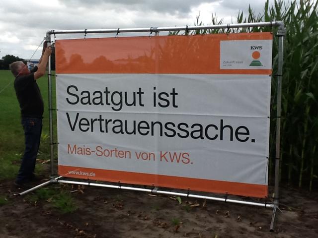 """Werbebanner im Spannrahmen - Bannerrahmen """"Stand"""""""