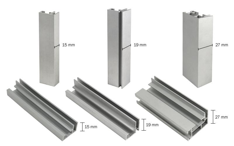 Aluminiumprofile Textilspannrahmen - Profilvergleich