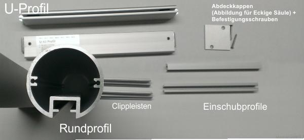 Alufor-Aufsteller - Übersicht Einzelteile