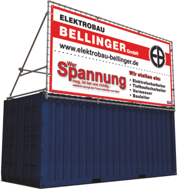 Bannerrahmen Containerrahmen Stecksystem 20 Fuss Seecontainer thumbnail