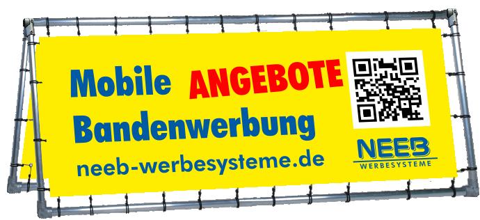 Mobile Bandenwerbung - Bannerrahmen Stecksystem aus Aluminiumrohr