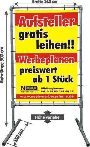 """Bannerrahmen Aufsteller """"Hoch"""" - Typ 3"""