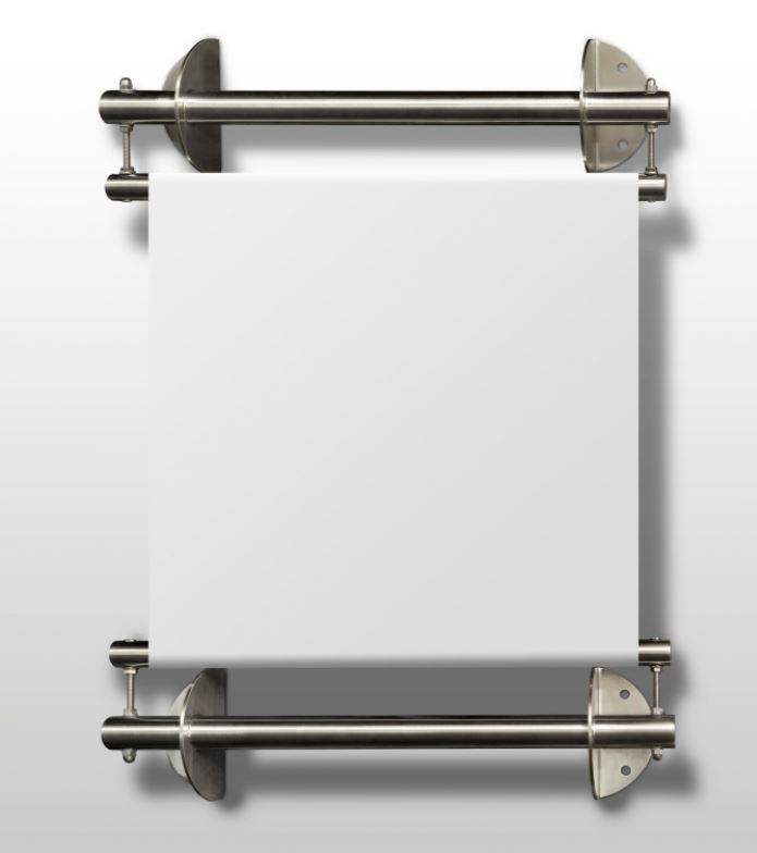Edelstahl Bannerhalter-Set zur Wandmontage
