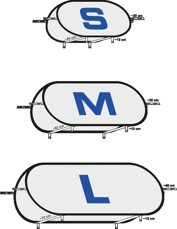 Quickbanner S M L - Masse
