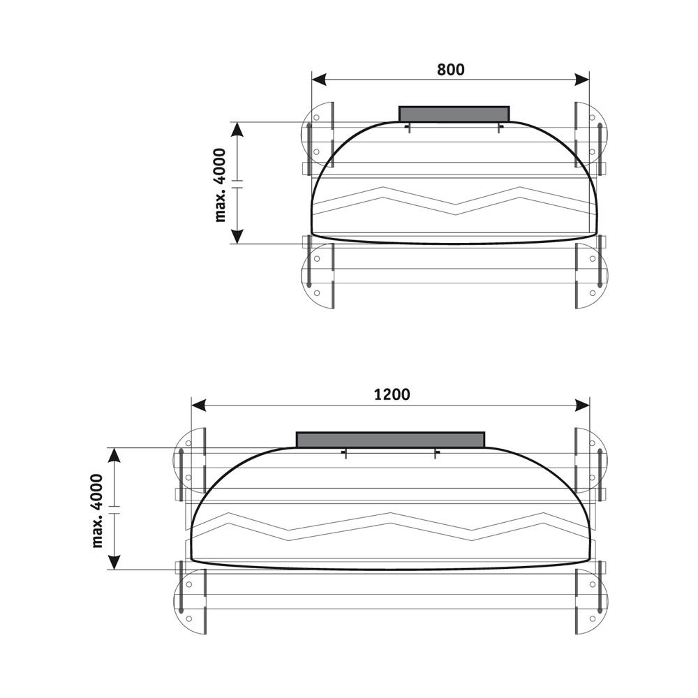 Bannerhalter FORINOX Wand