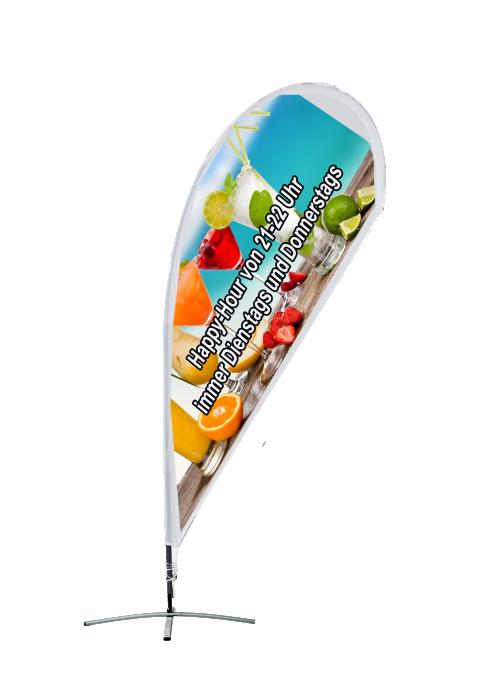 Beachflag - Tropfenform mit Kreuzfuß