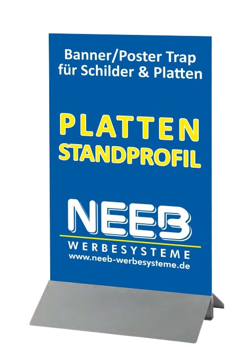Plattenstandprofil Poster Banner Trap Bannerhalter