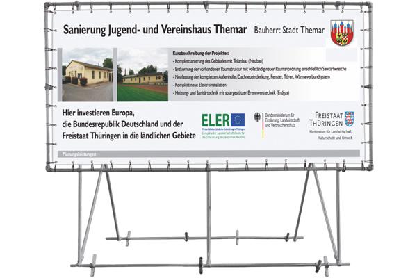 Bannerrahmen für Bauschilder