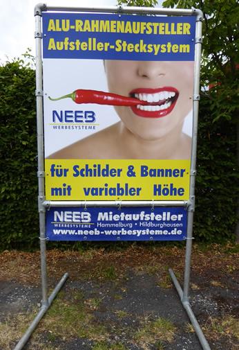 Schilder-Rahmenstecksystem