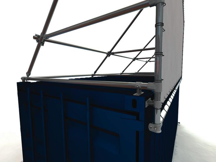 20 Fuss Containerrahmen Alu-Bannerrahmen für lange Seite oben