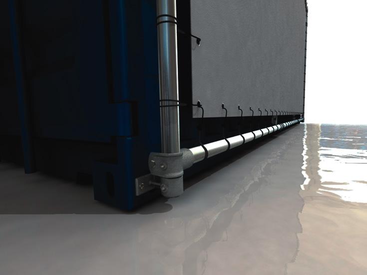 20 Fuss Containerrahmen Alu-Bannerrahmen für lange Seite unten