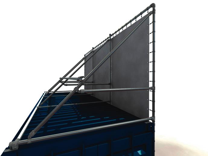 20 Fuss Containerrahmen Alu-Bannerrahmen für lange Seite oben und unten vor dem Container
