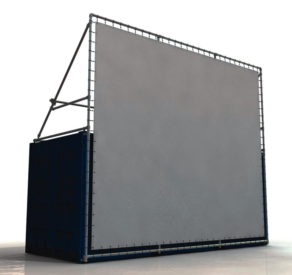 Containerrahmen 20 Fuss Container Bannerrahmen Stecksystem oben und unten