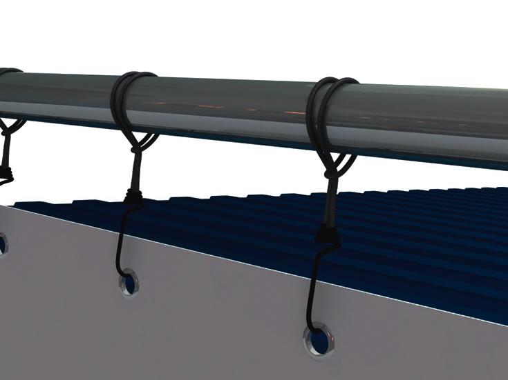 20 Fuss Containerrahmen Alu-Bannerrahmen für kurze Seite unten vor dem Container