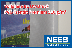 Bannerdruck auf PVC-Frontlit 510 Premium B1