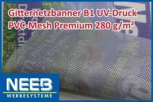Bannerdruck auf PVC-Mesh 280 Premium B1
