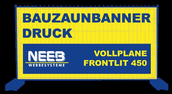 Bauzaunbanner Druck Vollplane PVC-Frontlit 450 Standard ohne B1 thumbnail