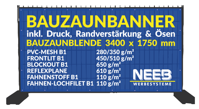 Bauzaunbanner Druck - Bauzaunblenden bedrucken