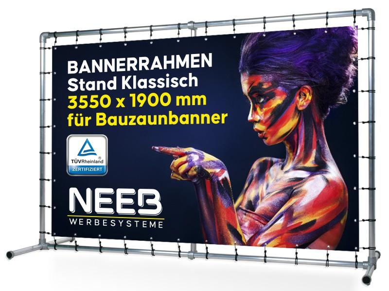 Bannerrahmen-Stecksystem-Stand-klassisch-Bauzaunbanner