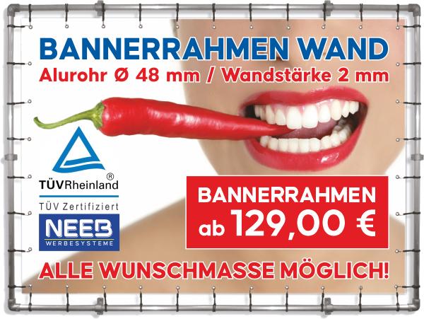 Bannerrahmen Wandmontage