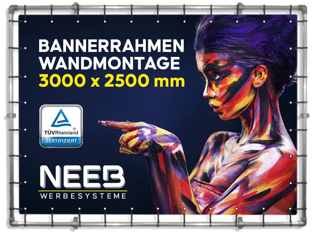 Bannerrahmen-Wand-Fassadenrahmen-3000×2500-Wandmontage