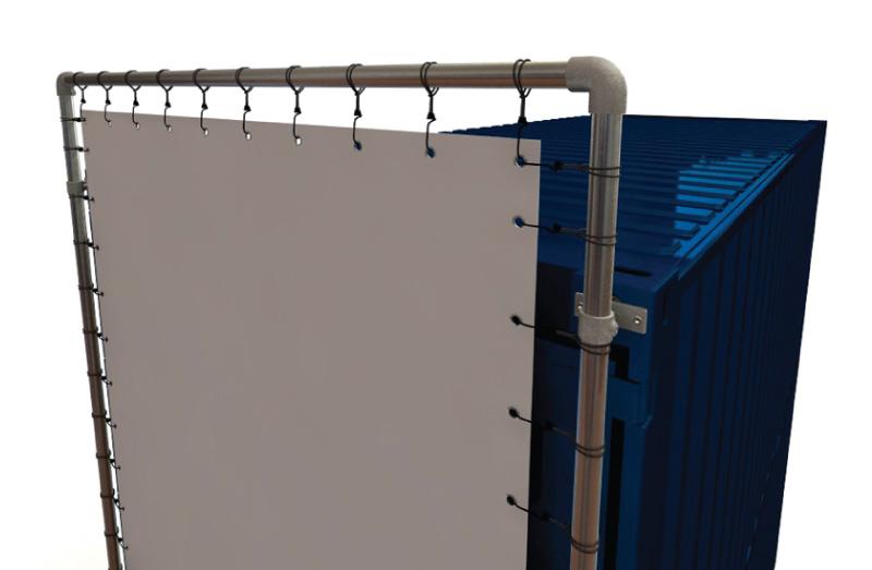 Containerrahmen-S200767-2-Container-kurze-Seite-komplett-Bannerrahmen-Detail