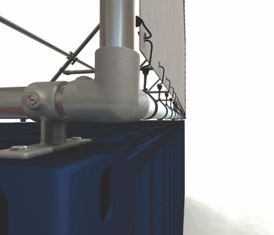 Container Banner Rahmen für 20 Fuß Seecontainer - Lange seite oben bündig auf Container Detail 1
